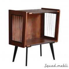 Steel lines on sides. Credenza, Dark Brown, Modern Design, Mid Century, Polish, Steel, Cabinet, Tv, Storage