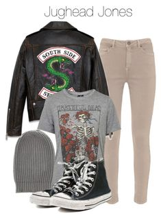 """""""Jughead Jones - Riverdale"""" by shadyannon ❤ liked on Polyvore featuring Rick Owens, Mint Velvet, Topshop and Converse"""