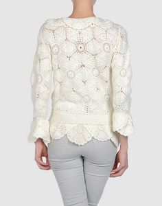 crochet, knit and embroidered pieces