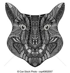 Hand Drawn Doodle Vector Illustration Isolated On White Background Sketch For Tattoo Or Indian Makhenda Design
