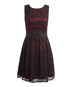 Loving this Wine & Black Ava Dress on #zulily! #zulilyfinds