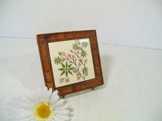 Vintage Ceramic Floral Mexican Tile Framed in by DivineOrders