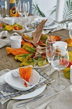 Svenngården: Borddekking: Høst - fra skauen til bordet