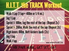 Workout in the sun with this HIIT track workout