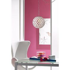 "Kaia Frosted Beads 12"" Wide Chrome Plug-In Swag Pendant - #Y9118 