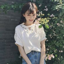 Mihoshop Ulzzang Korean Korea Women Fashion Clothing Summer fresh cotton shirt sleeve T-shirt sweet Preppy //FREE Shipping Worldwide //