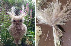 осенние поделки из природных материалов Nature Crafts, Deco, Diy And Crafts, Seeds, Owl, Bird, Halloween, Children, Flowers