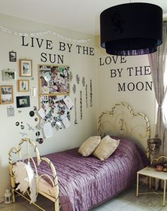 """Live by the sun. Love by the Moon"" quote Might put this over my bed"