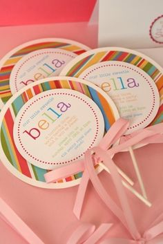 Do It Yourself INSTRUCTIONS for Yummy Lollipop Invitations