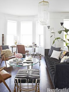 photo by b. wallander for house beautiful. office makeover by nate berkus.