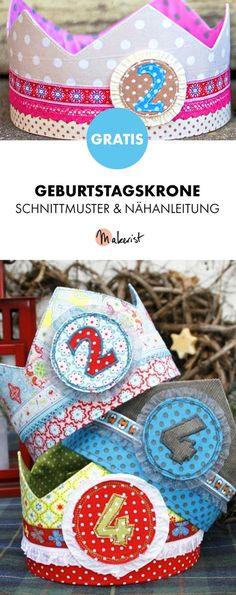 Gratis Anleitung: Krone nähen zum Kindergeburtstag - Schnittmuster und Nähanleitung via Makerist.de