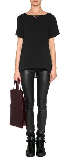 A single sheer back stripe lends a sultry look to this modern cut top from Rag & Bone #Stylebop