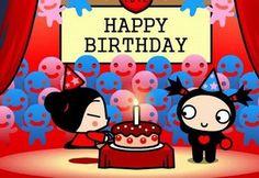 Happy Birthday Pucca y Garu #cumpleanos #feliz_cumpleanos #felicidades #happy_birthday #tarta_cumpleanos #pastel_cumpleanos