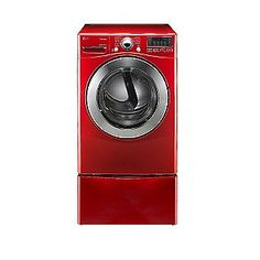 LG- -7.3 cu. ft. Steam Electric Dryer w/ Sensor Dry - Red- now just need the washer.