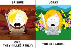 Brienne & Loras in South Park