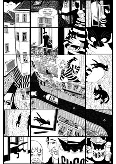Sugar by Serge Baeken -Fun concept if you are not having great ideas for a drawing. Grid out rows of one inch boxes and tell a story within them using any combination of squares.