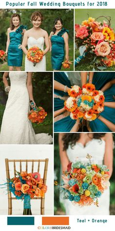 27 Best Teal Orange Weddings Images Wedding Colors