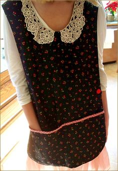 Cute apron - love the lace!