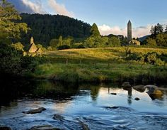 """Valley of the Two Lakes"" - Glendalough in County Wicklow, Ireland"