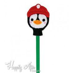 Penguin Pencil Topper Embroidery Design