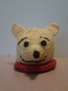Winnie the Pooh knitted baby beanie