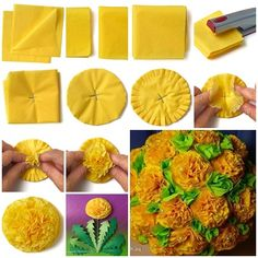 Wie DIY Amazing Seidenpapier Blumen – amigurumide How DIY Amazing Tissue Paper Flowers Paper Flower Ball, Crepe Paper Flowers, Fabric Flowers, Making Tissue Paper Flowers, Tissue Paper Decorations, Altar Decorations, Crafts For Teens To Make, Diy And Crafts, Paper Crafts