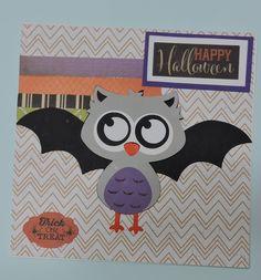 Halloween Card, Silhouette Cameo, Owl