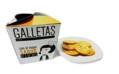 """caja de galletas """"D' LA CASA""""  {identidad visual y diseño de empaques}"""
