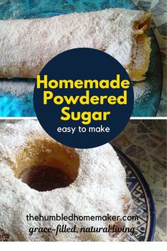 This DIY powdered sugar recipe is a baking game changer! I'm so glad I found this delicious and easy to make recipe. Real Food Recipes, Dessert Recipes, Yummy Food, Desserts, Baking Games, Easy Weekday Meals, How To Read A Recipe, No Sugar Foods, Easy Food To Make