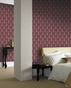 Soprano Purple Wallpaper - Purple Geometric Wall Coverings by Graham  Brown
