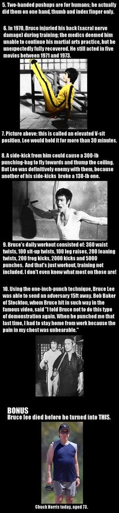 Funny pictures about Actual Bruce Lee Facts. Oh, and cool pics about Actual Bruce Lee Facts. Also, Actual Bruce Lee Facts. Bruce Lee Facts, Bruce Lee Quotes, Kung Fu, Brandon Lee, Chuck Norris, Qwan Ki Do, Aikido, Bruce Lee Workout, Ju Jitsu