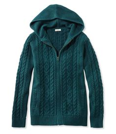Double L Mixed-Cable Sweater, Zip-Front Cardigan | Clothes for ...