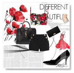 """Different Is Beautiful"" by alejandraf101 ❤ liked on Polyvore featuring Mulberry, Yves Saint Laurent, Boutique Moschino, Dolce&Gabbana and Henri Bendel"