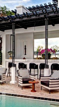 The Siam (Bangkok, Thailand Appreciate the Art Deco decor at The Siam in Art Deco Decor, Art Deco Home, Art Deco Design, Decoration, Outdoor Rooms, Outdoor Living, Exterior Design, Interior And Exterior, The Siam Hotel