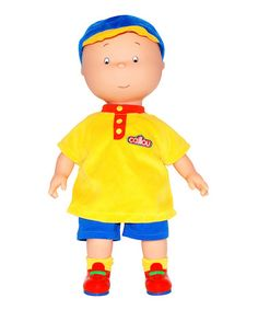 Love this Caillou Doll by Caillou - just purchased it for my little boy who will turn 3 next month! Yay he will love it....on #zulily! #zulilyfinds