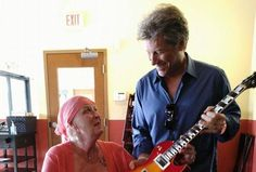 JBJ a fan of cancer patient to gift him a dinner at his restaurant Soul Kitchen a guitar, a kiss and a long time comversation that lucky. JBJ is an incredible human being God bless you Jon. (Em)