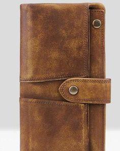 Handmade Leather Mens Cool Long Leather Wallet Wristlet Clutch Wallet for Men Key Wallet, Long Wallet, Card Wallet, Clutch Wallet, Mens Long Leather Wallet, Leather Clutch, Leather Men, Vintage Leather, Handmade Leather