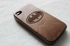 iPhone 5 s cas, bois iphone 5 cas, gravée Batman bois iphone 5 s cas, cas iphone bois de noyer, bois iphone 5 cas sur Etsy, 18,02€