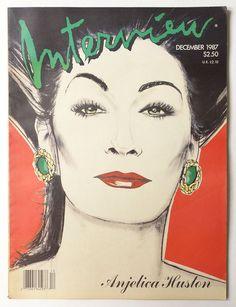 Andy Warhol's Interview Magazine December 1987 vol.XVII no.12: Angelica Huston
