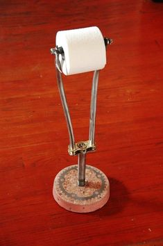 Bicycle fork toilet paper holder by velodesigns on Etsy