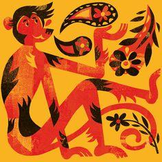chinese new year : monkey