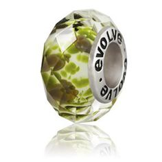forest crystal evolve murano glass charm