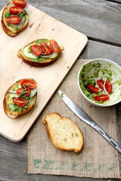 Bruschetta with Avocadoes .....great for those summer camps n picnics