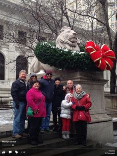 Marilyn Grace and family from Chattanooga... Christmas in New York