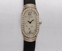 david yurman mini madison diamond watch w white mop u0026 black satin band t409