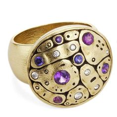 Alex Sepkus 18K Yellow Gold Purple Sapphire Mix Flora Ring · R-188S · Ben Garelick Jewelers