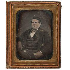 "ca. 1850s, [daguerreotype portrait of 15 year old John A.P. Fisk, President of NYC ""Fat Men's Club""], Knapp"