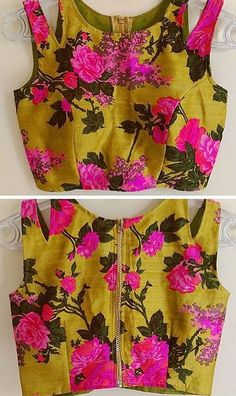 Thinking something like this:not colors but for bridesmaid blouse with solid sari  Floral pop