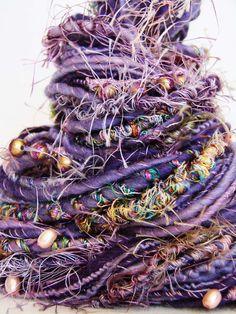 yarnmantra's RULAPI handspun yarn by Gloria Segura Spinning Wool, Hand Spinning, Textiles, Yarn Inspiration, Art Du Fil, Art Textile, Yarn Bombing, Yarn Projects, Hand Dyed Yarn