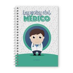 Cuaderno XL - Las notas del médico, encuentra este producto en nuestra tienda online y personalízalo con un nombre. Notebook, Cover, Notebooks, Report Cards, Training, Store, Physical Therapist, The Notebook, Exercise Book